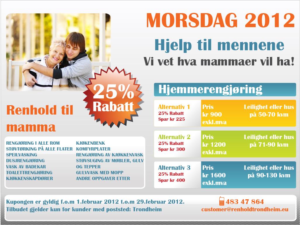 Morsdag 2012 | Renhold i Trondheim | TB ProVask